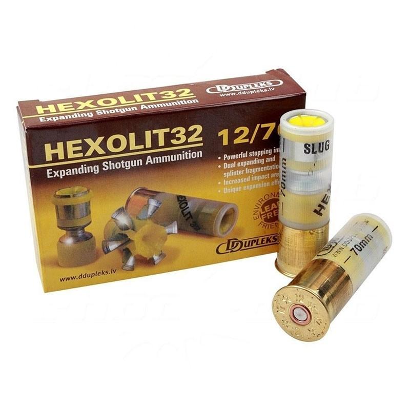 Cartuș pentru armă lisă cu proiectil unic D Dupleks Hexolit 12/70 32g
