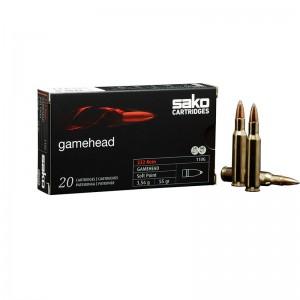 Cartuș pentru carabină Sako Gamehead .222 Rem 3.56g